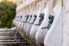 Perspective View Of The Calamo Fountain In Ancona, Italy.