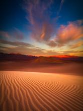 Death Valley Sand Dune At Dusk