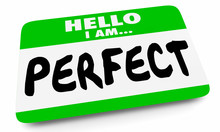 Hello I Am Perfect Ideal Best Person Name Tag 3d Illustration