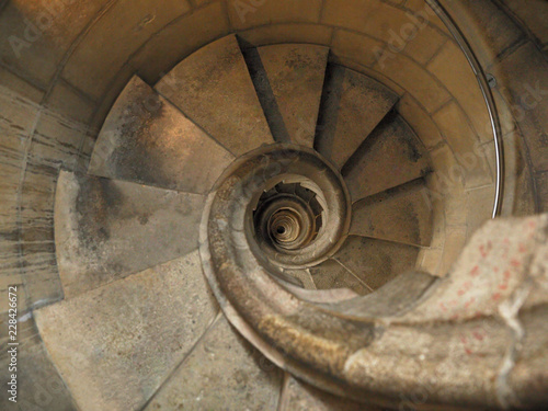Spiral staircase of Sagrada Familia Wallpaper Mural