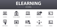 ELearning Simple Concept Icons...