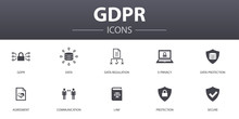 GDPR Simple Concept Icons Set....
