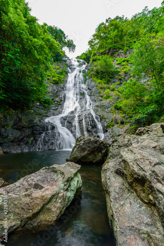 tropical nature in sarika waterfall at nakhon nayok, Thailand