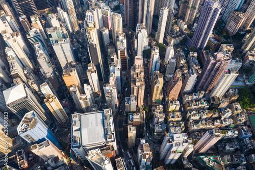 Fototapeten New York Hong Kong city