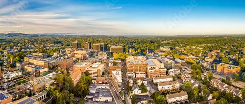 Fotografie, Obraz  Aerial cityscape of Morristown, New Jersey