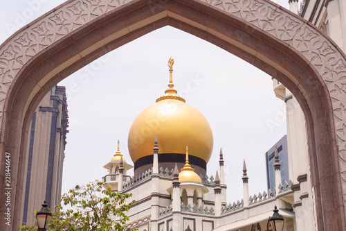 Tablou Canvas masjid sultan in Singapore.