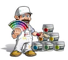 Handyman - Colour Picking Painter White Uniform