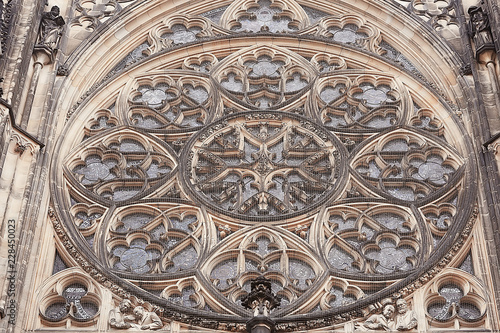bas-relief on the cathedral in Prague / carving and decoration of the Catholic C Wallpaper Mural