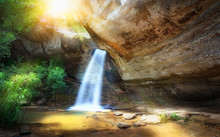 Sang Chan Waterfall Or (Long Ru Waterfall) One Of The Iconic Natural Landmark Of Tourist In Ubonratchathani,Thailand