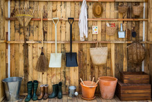Gardening Tools In The Shed, T...