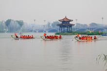 Dragon Boat Race Scene In Chin...
