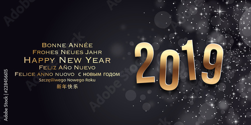 Fotografia  New Year Wishes Card - Happy New Year 2019