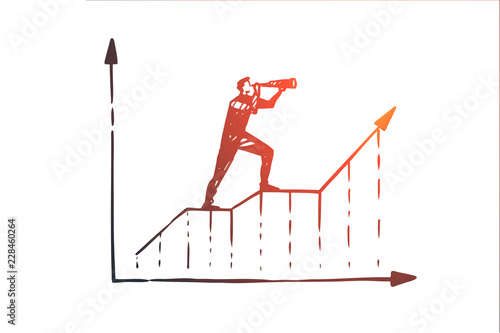 Fotografía Forecast, graph, growth, progress, diagram concept