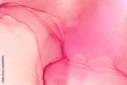 Aluminium Prints Candy pink Hand painted ink texture. Abstract background.