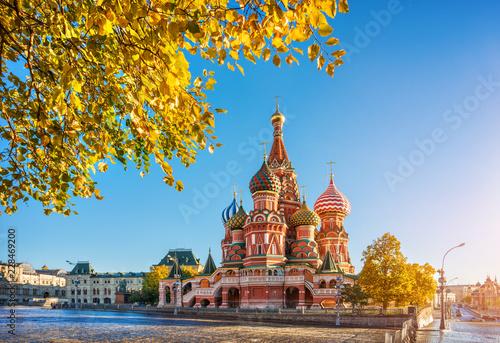 Pinturas sobre lienzo  Осень у Собора Василия Блаженного на Красной Площади  в Москве St