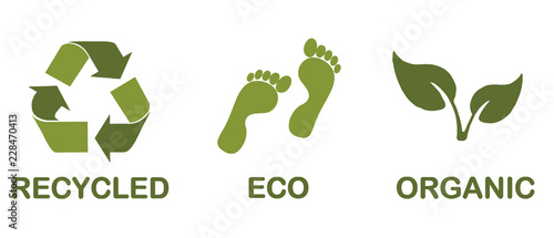 Ecological icons Fototapet
