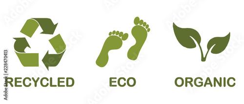 Fotografia, Obraz  Ecological icons
