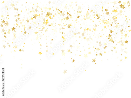 Fotografija Magic gold sparkle texture vector star background.