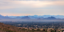 View Of A City In Arizona Over...
