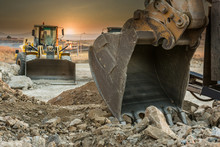 Detail Of The Shovel Of An Excavator On A Building Site