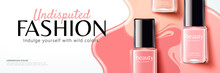 Pink Nail Lacquer Banner Ads