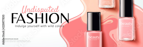 Fotografía Pink nail lacquer banner ads