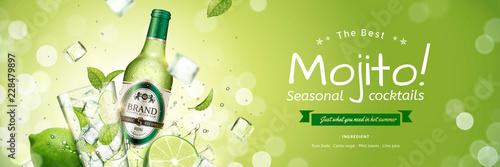 Photographie Seasonal mojito banner ads