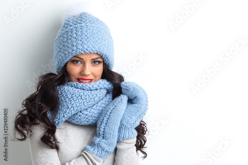 Woman in warm clothing