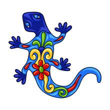 Mexican Ornamental Lizard.