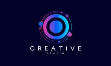 O Letter Logo Design. Modern Abstract Background.