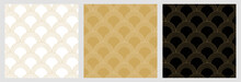 Seamless Traditional Japanese Pattern With With Elegant Golden Geometric Line For Christmas Background
