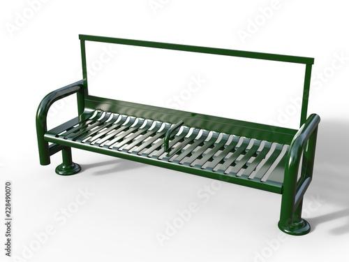 Blank bench billboard display for advertising Fototapeta