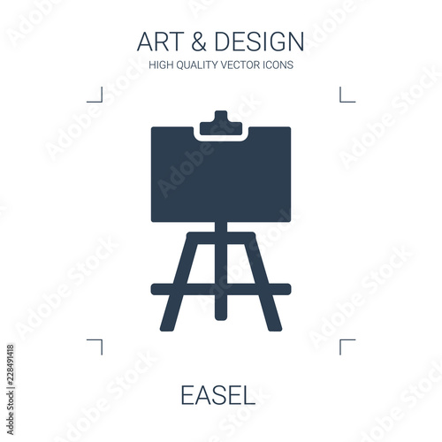 easel icon Canvas Print
