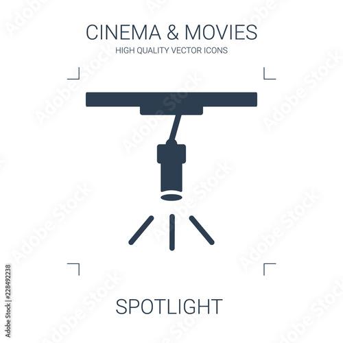 Foto op Canvas Licht, schaduw spotlight icon