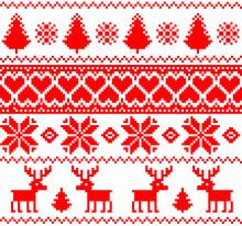 Scandinavian Traditional Patterns, Seamless Borders