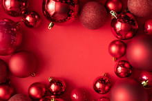 Red Christmas Baubles Decorati...