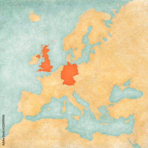 Map Of Europe And The Uk.Map Of Europe Uk And Germany Buy This Stock Illustration And