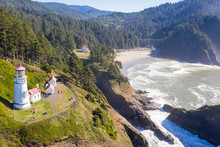 Heceta Head Lighthouse On The Oregon Coastline