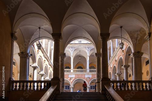 Fotografie, Obraz  Doria Tursi Palace backyard