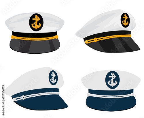 Obraz na plátně Captain sailor hat