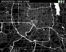 Simple Map Of Rochester, New Y...