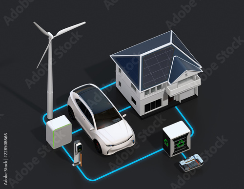 Renewable energy network connected by smart home equipped