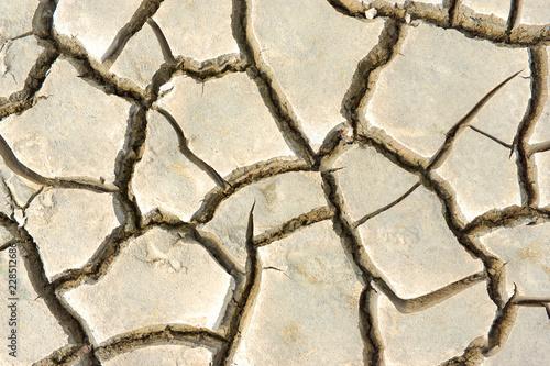 Fotografía  Pattern of cracked ground at the seashore