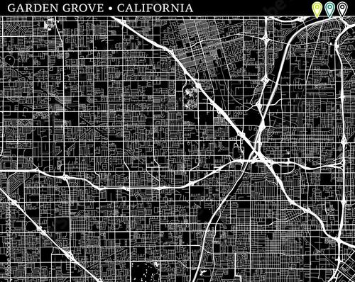 Simple map of Garden Grove, California - Buy this stock ...