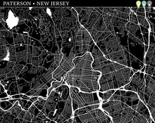 Simple Map Of Paterson, New Je...