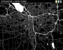 Simple Map Of Syracuse, New York