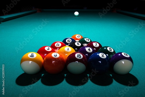 Fotografie, Tablou Snooker billiard