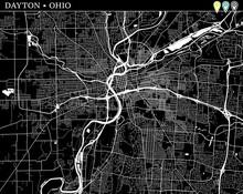 Simple Map Of Dayton, Ohio