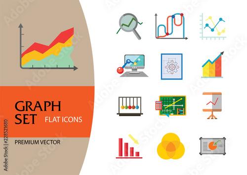 Super Graph Icon Set Magnifier And Graph Growing Bar Chart Declining Bar Wiring Digital Resources Jonipongeslowmaporg