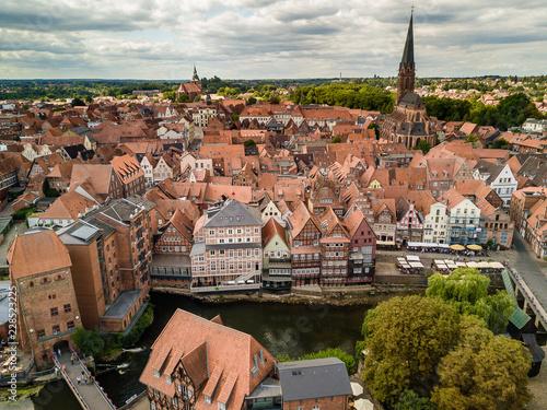 Vászonkép Blick zum Stintmarkt in Lüneburg